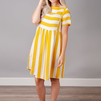 Here Comes the Sun Striped Dress