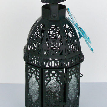 Metal Moroccan Lantern, Table or Hanging Candle Holder, Wedding, Party, Table Centerpiece Decoration