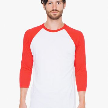 50/50 Raglan 3/4 Sleeve T-Shirt | American Apparel