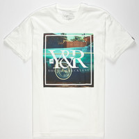 Young & Reckless Left Coast Photo Mens T-Shirt White  In Sizes