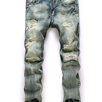 Men's Jeans Rippe distressed pants