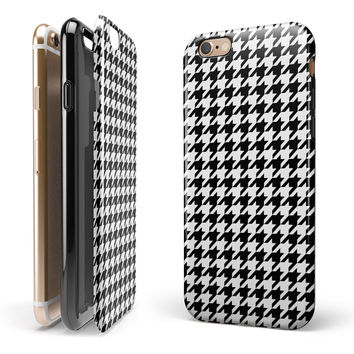 Black and White Houndstooth Pattern 2-Piece Hybrid INK-Fuzed Case for the iPhone 6/6s or 6/6s Plus