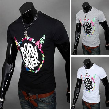 New Designer Print Short Sleeve Slim Tee
