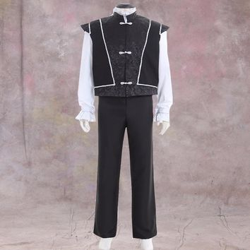 Custom Made Adult Mens Medieval Top Pants Cosplay Costume