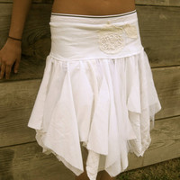 made to order all in whites Funky Eco Tattered by CreoleSha