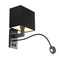 BRONZE WALL LAMP WITH PICTURE LIGHT | EICHHOLTZ READING