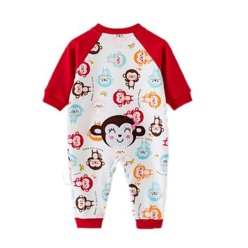Baby Girl Clothes Newborn Boys and Girls Winter Full Romper Cute Cartoon Animal Printed Jumpsuit Infant Onesuit Baby Clothes