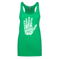 Vegan Shirt - Hello Vegan - Vegan Tank Top