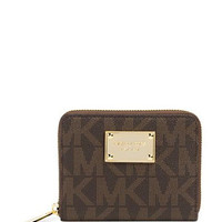 Michael Michael Kors Signature Print Set Medium Zip Around Wallet