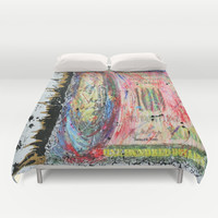 """Throw Sum Mo"" Duvet Cover by Jennifer Pennacchio"