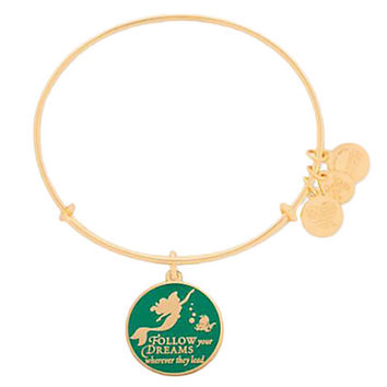 Disney Parks Ariel Follow Your Dreams Bangle Bracelet Alex & Ani Gold New W Tags