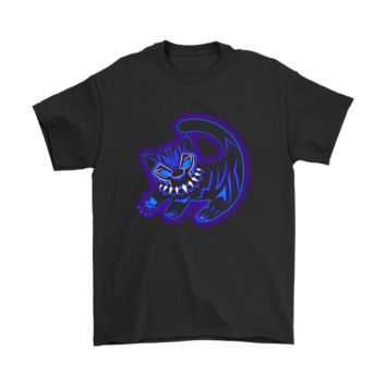 KUYOU Black Panther Mashup Simba Cubs Painting Neon Light Shirts
