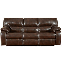 Exceptional Designs Canyon Chocolate Leather Reclining Sofa
