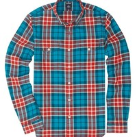 Fieldhouse Flannel Slim - Teal & Red