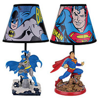 DC Comics™ Superman And Batman Figure Lamps