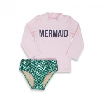 Mermaid Off Duty Baby Rash Guard Swimsuit