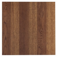 """Pack of 20 Elegant Home 12"""" x 12"""" Self Adhesive High Gloss (No Wax) Finish 1.2mm Thick Vinyl Tiles - 3 Finger Med. Oak Parquet"""