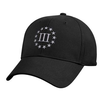 Three Percenter Low Profile Cap (Size: One Size Fits Most, Color: Black)