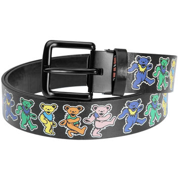 Grateful Dead - Dancing Bears Black Leather Belt