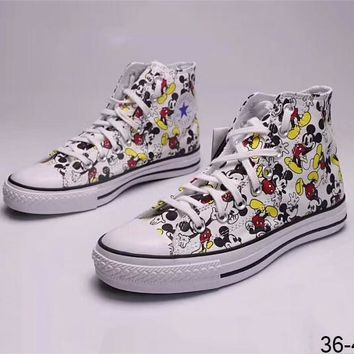 Converse & Disney Co-op Mickey Mouse Doodle High Top Canvas Shoes F-ADD-MRY