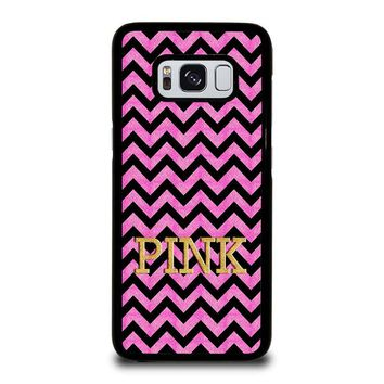 VICTORIA'S SECRET PINK CHEVRON Samsung Galaxy S8 Case Cover