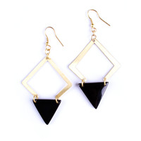 Desert Solitaire Earrings Gold