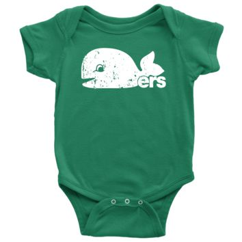 Retro Hartford Whalers Pucky Inspired Infant Snapsuit