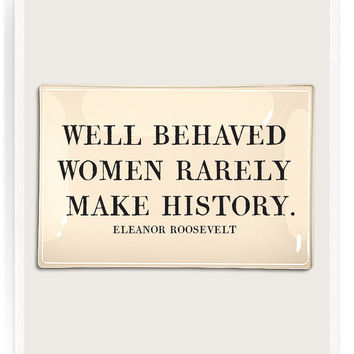 Well Behaved Women Decoupage Glass Tray