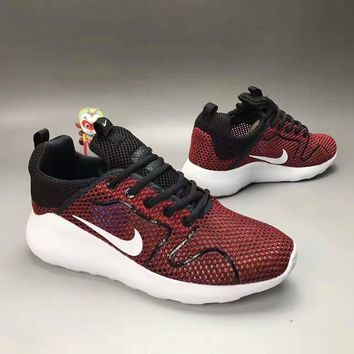"""NIKE"" Fashion Casual Knit Fly Line Olympic Unisex Sneakers Couple Running Shoes"