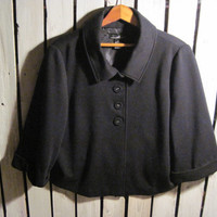 Vintage #BOHO Black Jacket, Size Large. Very Cute! By designer Willi Smith! Looks very cute with jeans!