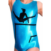 Gymnastics Leotards Girls Mystique UNEVEN BARS Leotard Gymnast Leotard cs cm cl axs as am al TURQUOISE Mystique