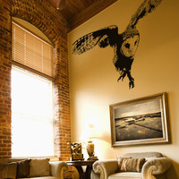 Vinyl Wall Decal Sticker Australian Owl Flying #OS_AA496