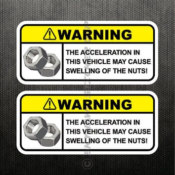 Swelling Of The Nuts Funny Sticker Vinyl Decal Set Dashboard Visor Sticker Car Truck SUV Sticker JDM Sticker For Honda Jeep Ford