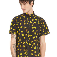Pokemon Pikachu Short-Sleeved Woven