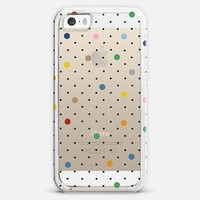 Pin Point Polka Dot Transparent iPhone 5s case by Project M | Casetify