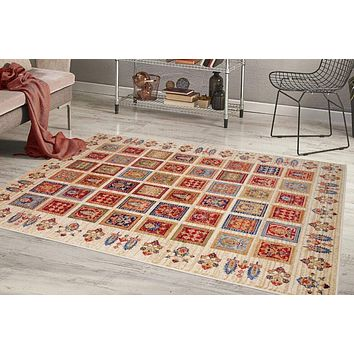 2213 Multi-Color Panel Oriental Area Rugs