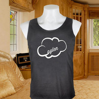 Jc Caylen cloud Screenprint tanktop black  for woman size xs,s,m,l,xl,xxl