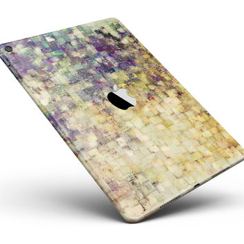 "Grungy Abstract Purple Mosaic Full Body Skin for the iPad Pro (12.9"" or 9.7"" available)"