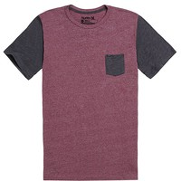 Hurley Oscar Mock Contrast T-Shirt - Mens Tee - Red