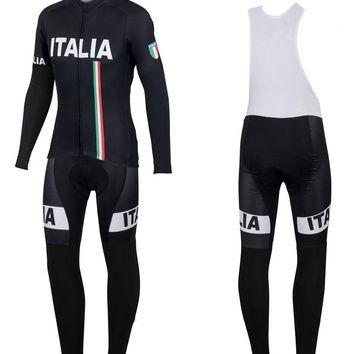 Italy Winter Thermal Cycling Clothing 2017 Men Fleece Jersey Bike Bicycle suits Cycling Kit Bicycle Clothing Ropa Ciclismo