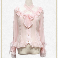 Be My Valentine シフォンレースアップブラウス/Be My Valentine chiffon lace up blouse | BABY,THE STARS SHINE BRIGHT