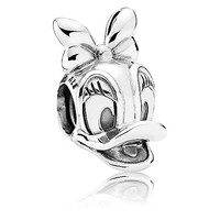 Disney Parks Daisy Duck Portrait Sterling Silver Charm Pandora New