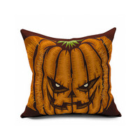 Cotton Flax Pillow Cushion Cover Halloween    WS081