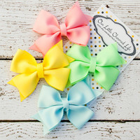 Easter Hair Bow, Spring Hair Bow Set, Easter Hairbow, Easter Hair Clip, Hair Bow Set, Easter Boutique Hair Bow, Spring Hairbow