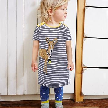 Little Girls Dresses Baby Clothes Summer Kids Princess Dress Girls Costumes Children Cotton Tunic Dress