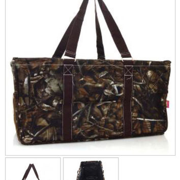 Natural Camo Framed Utility Storage Tote