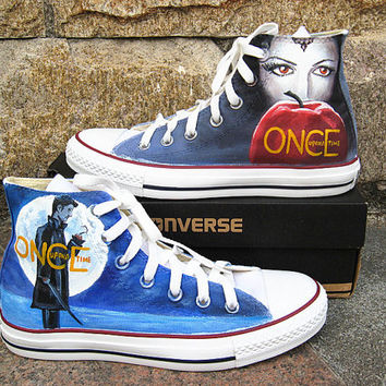 24e0dc75d76f09 Once upon a time shoes Converse shoes Custom Converse Once upon a time  Sneakers Hand-P