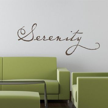 30x12 Serenity Peace Calm Relax Tattoo Vinyl by willowcreeksigns