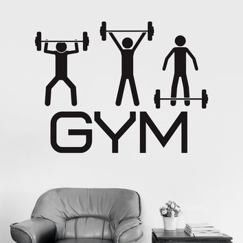 Vinyl Wall Decal Gym Fitness Bodybuilding Iron Sport Stickers Mural Unique Gift (ig3320)