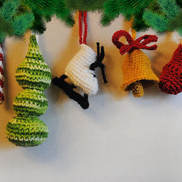 Christmas gift tree decoration Crochet Ornament New year decor Gift For Baby Christmas Decor for children's room